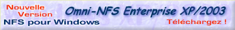 XLink Omni-NFS client et serveur pour Windows 2003, XP, 2000, NT, 98, 95